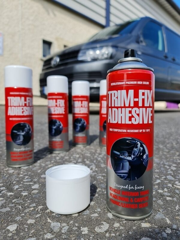spray adhesive for campers and other vehicles