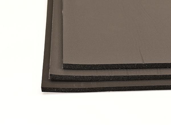 rubber foam for soundproofing in a car, van or truck