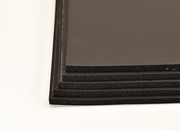 black rubber foam for sound insulation in campervans and other vehicles