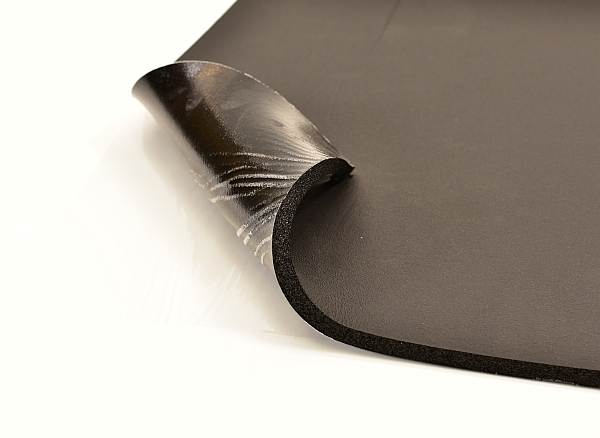 self adhesive sheet of rubber foam for sound insulation