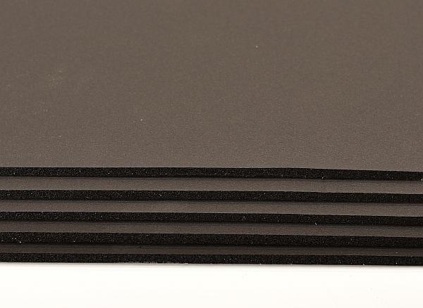 black flex rubber foam self adhesive stack of sheets