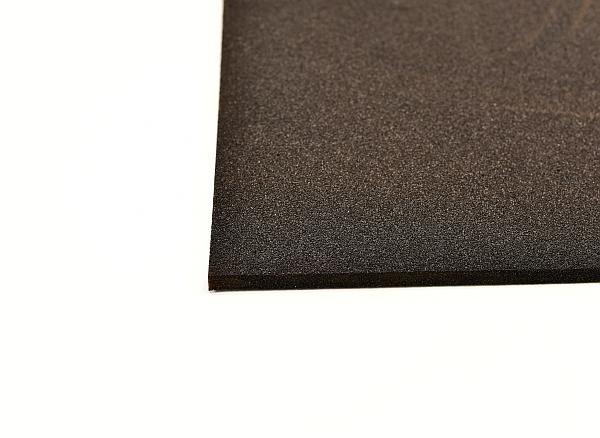 black layer sound insulation overhead view