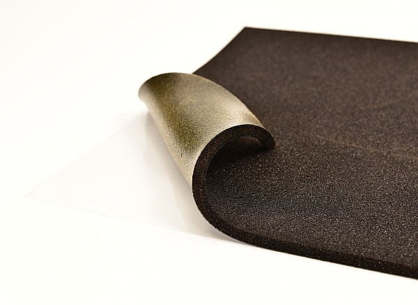 black layer sound insulation self adhesive sheets suitable for cars, vans and trucks
