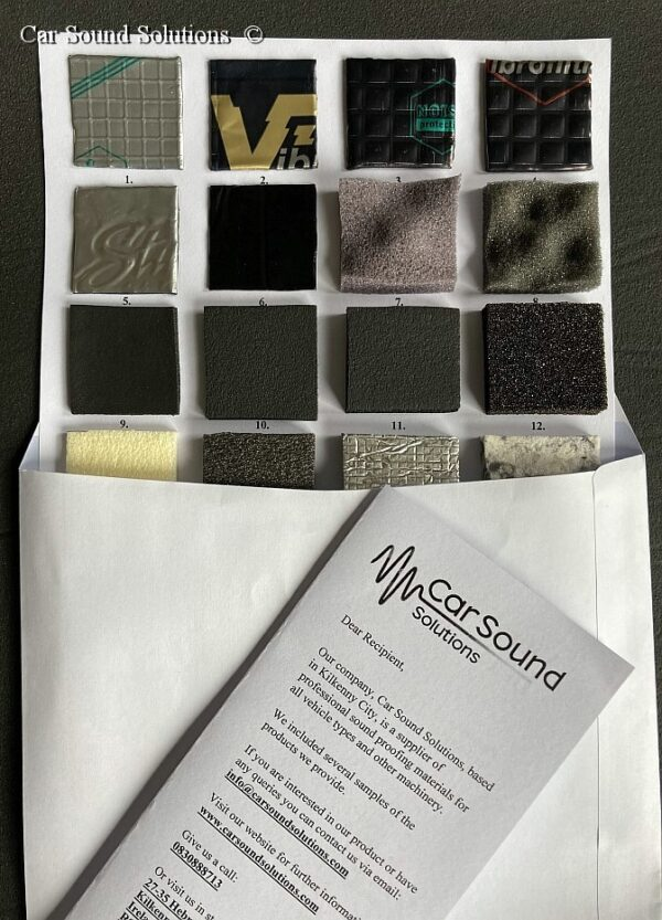 Samples Sheet of Soundproofing Materials